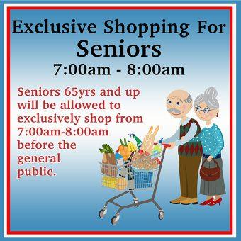 Senior Hours 7 AM To 8 AM