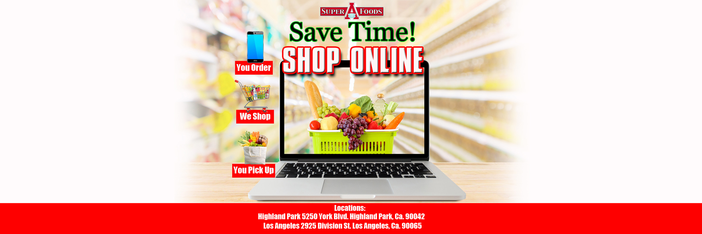 Shop online at our Highland Park and Los Angeles locations.