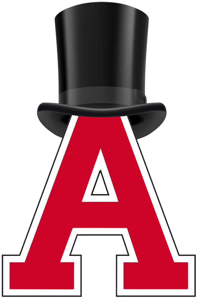 Super A Logo wearing Abraham Lincoln's hat